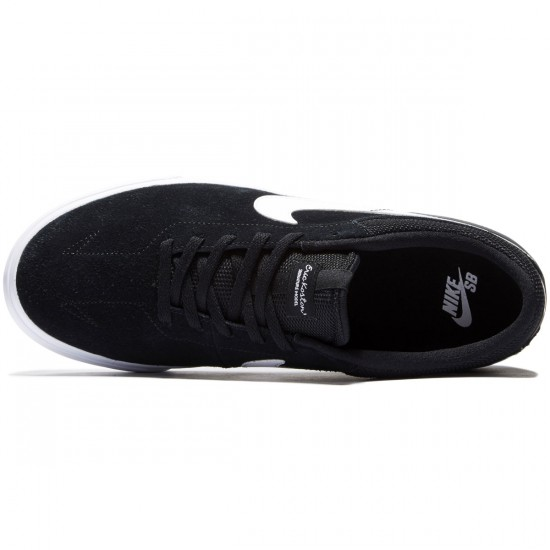 Nike SB Koston Hypervulc Shoes - Black/Dark Grey/White - 8.0