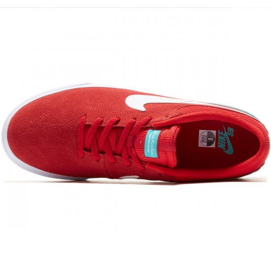 Nike SB Koston Hypervulc Shoes - Red/Clear/Jade/White - 8.0
