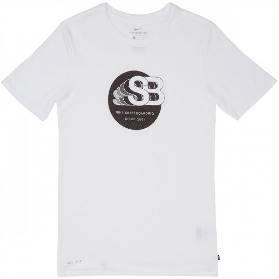 Nike SB Dry DF TA 17 T-Shirt - White/Black