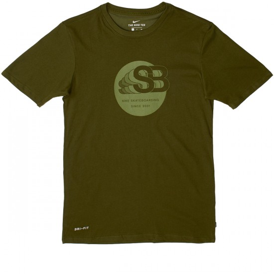 Nike SB Dry DF TA 17 T-Shirt - Legion Green/Palm Green