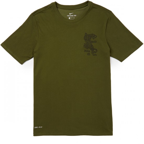 Nike SB Dry DF Jag T-Shirt - Legion Green/Black