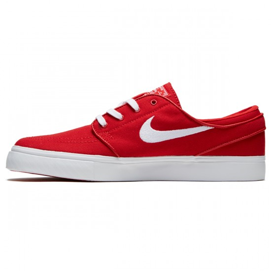 Nike Zoom Stefan Janoski Canvas Shoes - University Red/White - 6.0