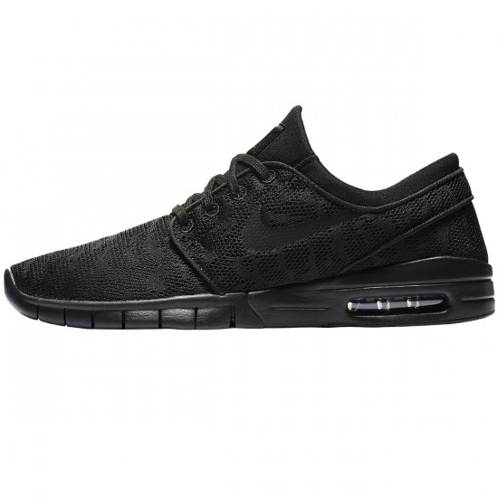 Nike Stefan Janoski Max Shoes - Black/Black/Anthracite - 6.5