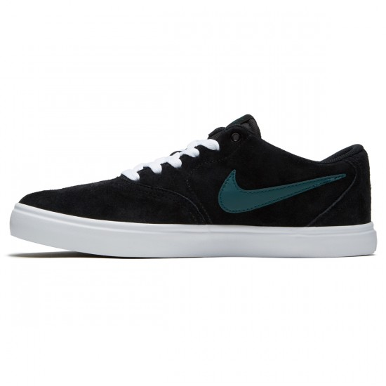 Nike SB Check Solarsoft Shoes - Black/Dark Atomic Teal/White - 7.0