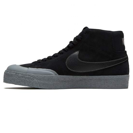 Nike SB Zoom Blazer Mid XT Shoes - Black/Mettalic Pewter/Cool Grey - 7.0