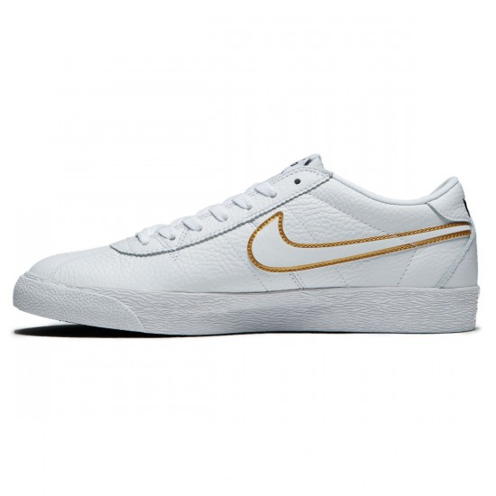 Nike SB Bruin Premium SE Shoes - White/White/Metallic Gold/Black