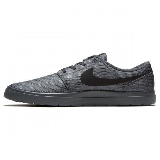 Nike SB Portmore II Ultralight Shoes - Dark Grey/Black - 7.5