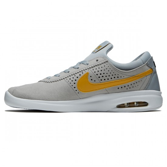Nike SB Air Max Bruin Vapor Shoes - Wolf Grey/Mineral Gold/White - 7.0