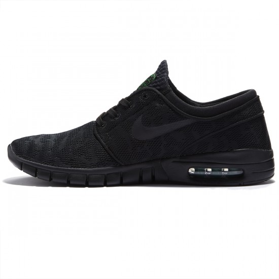 Nike Stefan Janoski Max Shoes - Black/Pine Green/Black - 8.0