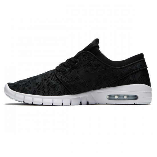 Nike Stefan Janoski Max Shoes - Black/Black/White - 6.0