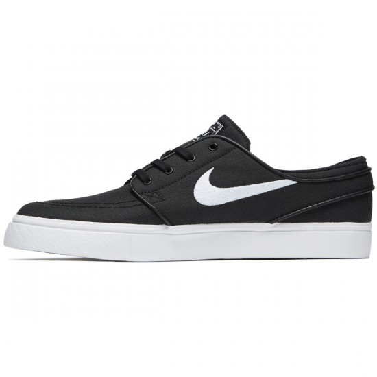 Nike Zoom Stefan Janoski Canvas Shoes - Black/White/Dark Grey - 5.5