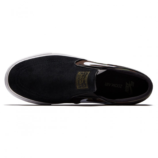 Nike Zoom Stefan Janoski Slip-On Shoes - Black/White/Medium Olive - 6.0