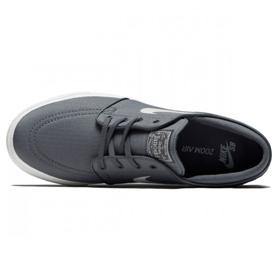 Nike Zoom Stefan Janoski Canvas Shoes - Dark Grey/Light Bone/Black - 6.0