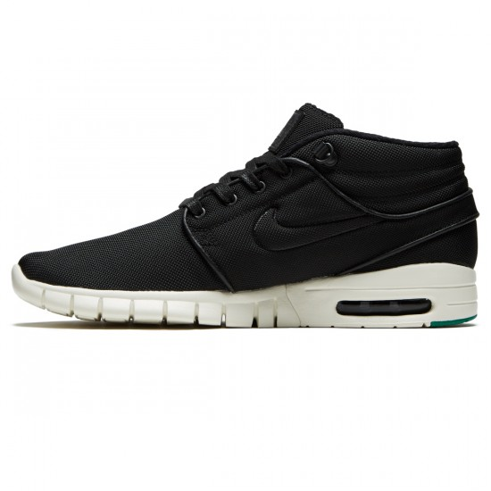 Nike Stefan Janoski Max Mid Shoes - Black/Neptune Green/Anthracite - 7.5