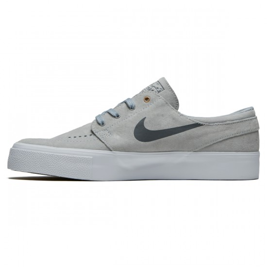 Nike SB Zoom Stefan Janoski HT Shoes - Wolf Grey/Metallic Gold/White - 6.0