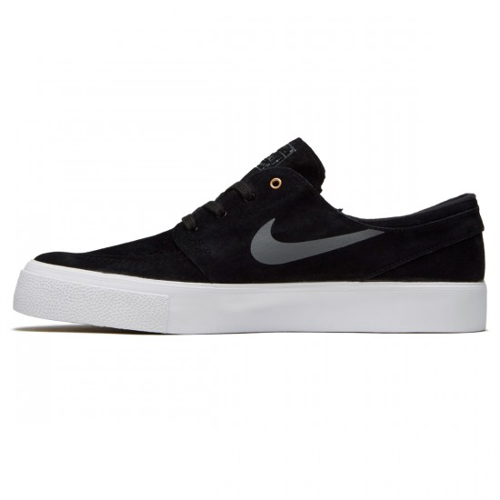 Nike SB Zoom Stefan Janoski HT Shoes - Black/Dark Grey/Metallic Gold/White - 7.0