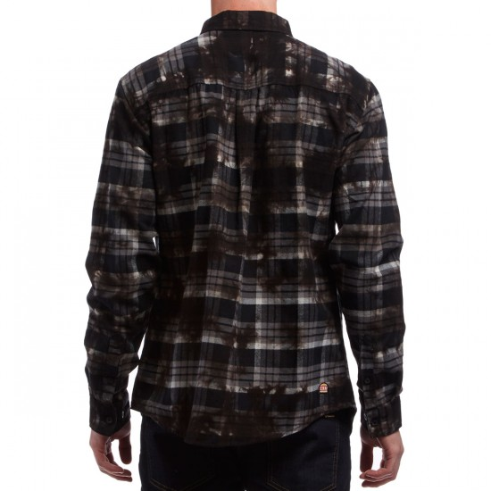 Neff Burger Boys Flannel Shirt - Black