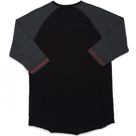 Neff Flirting With Death Raglan T-Shirt - Black