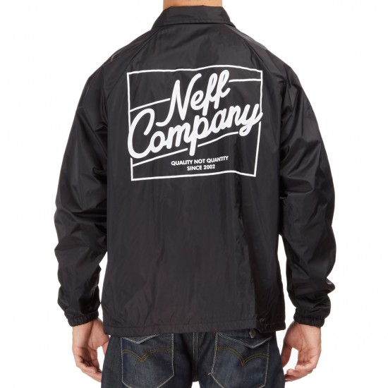 Neff Battered Coaches Jacket - Black