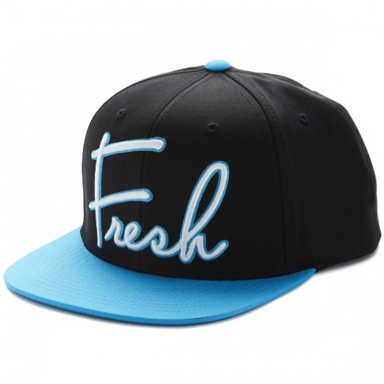 Neff Word Hat - Black/Cyan
