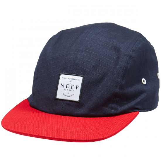 Neff Recreation Camper Hat - Navy/Maroon