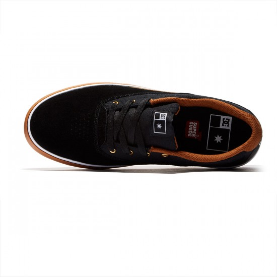 DC Sultan Shoes - Black/White/Gum - 8.0