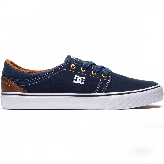 DC Trase Shoes - Navy/Dark Chocolate - 8.0