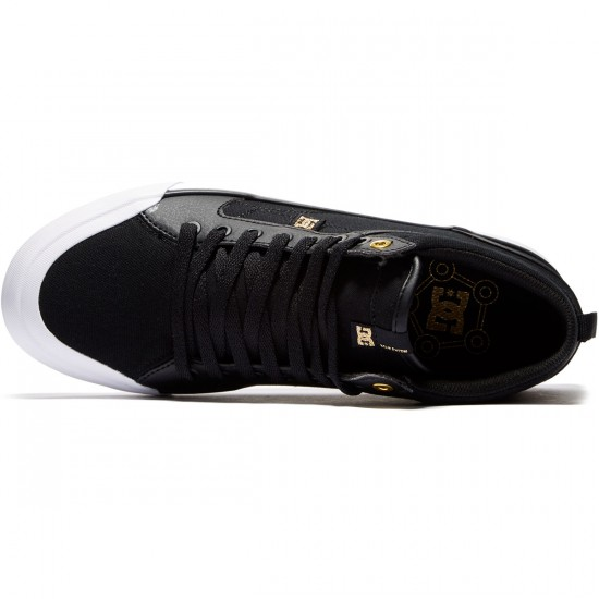DC Evan Smith Hi Shoes - Black/Gold - 8.0