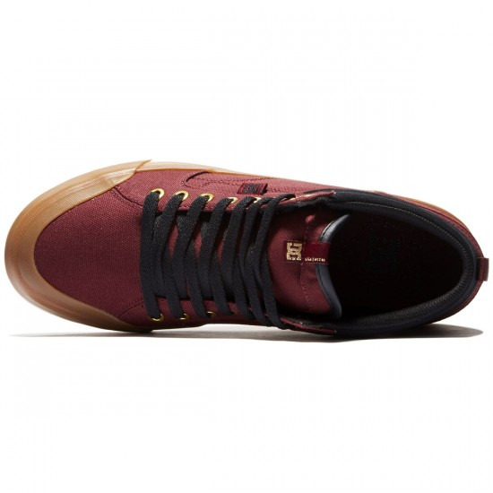 DC Evan Smith Hi Shoes - Burgundy - 8.0