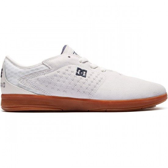 DC New Jack Shoes - White/Gum - 8.0
