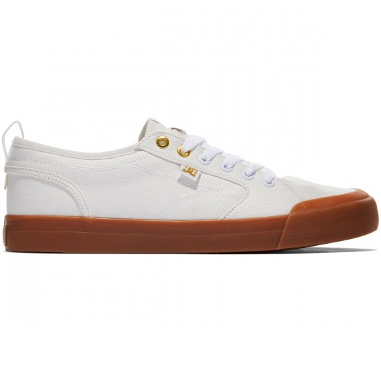 DC Evan Smith TX Shoes - Off White/Gum - 8.0