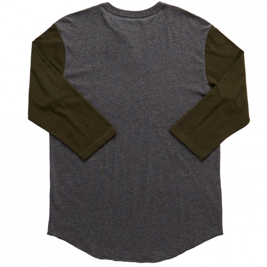 DC Basic Long Sleeve T-Shirt - Heather Charcoal