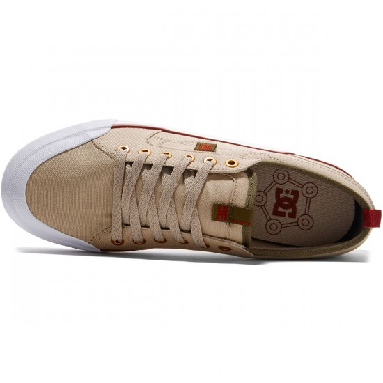 DC Evan Smith TX Shoes - Tan/Green - 8.0
