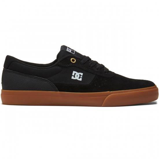 DC Switch S Shoes - Black/Black/Gum - 8.0