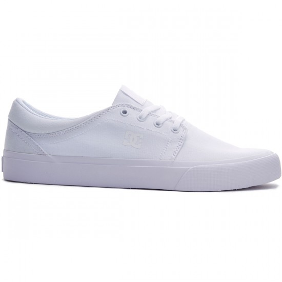 DC Trase TX Shoes - White/White/White - 8.0