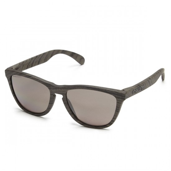 Oakley Frogskins Sunglasses - Woodgrain/Tungsten Iridium Polarized