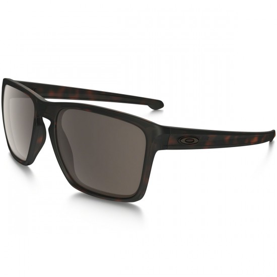 Oakley Silver XL Sunglasses - Matte Brown Tortoise/Warm Grey
