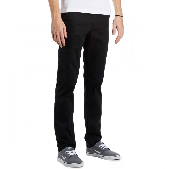 HUF Fulton Chino Pants - Black - 33 - 32