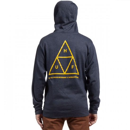 HUF Triple Triangle Pullover Hoodie - Navy Heather