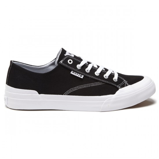 HUF Classic Lo Ess Tx Shoes - Black/White - 8.0