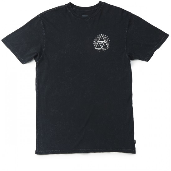 HUF Mineral Wash Third Eye Triple Triangle T-Shirt - Black