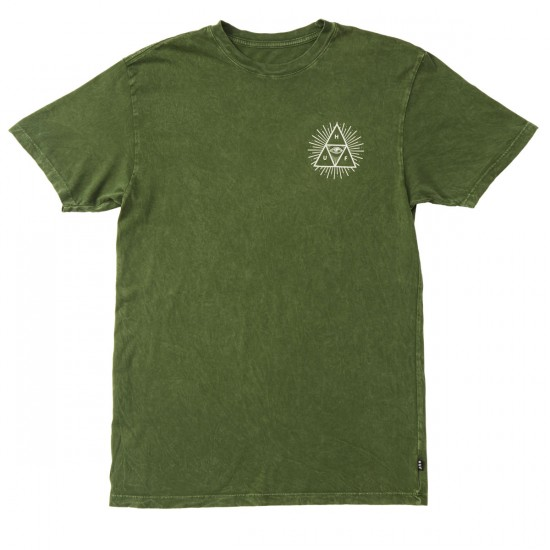 HUF Mineral Wash Third Eye Triple Triangle T-Shirt - Emerald