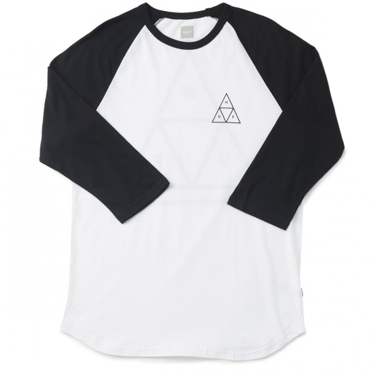 HUF Triple Triagle Raglan T-Shirt - White/Black