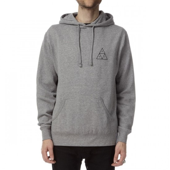 HUF Triple Triangle Lightweight Fleece Hoodie - Grey Heather