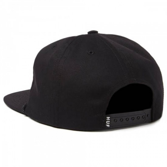 HUF Drink Up Snapback Hat - Black
