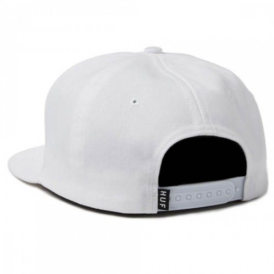 HUF Rose Snapback Hat - White
