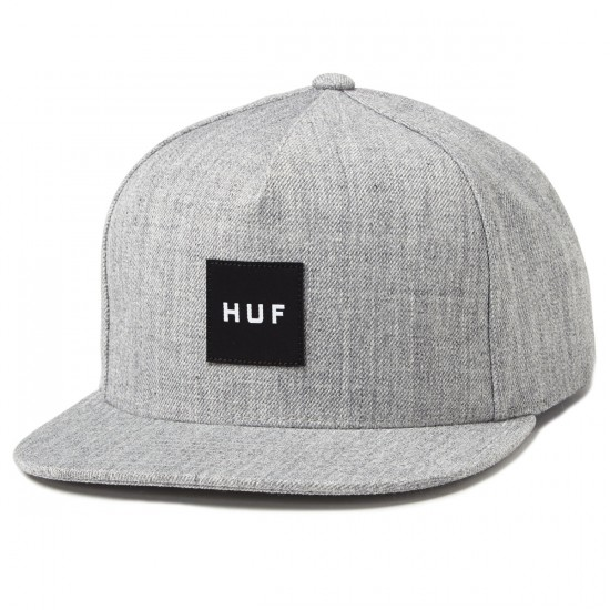 HUF Box Logo Snapback Hat - Charcoal