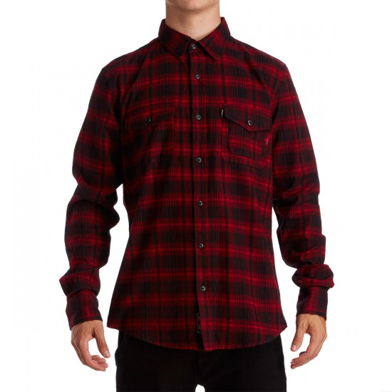 HUF Tardy Flannel Shirt - Red