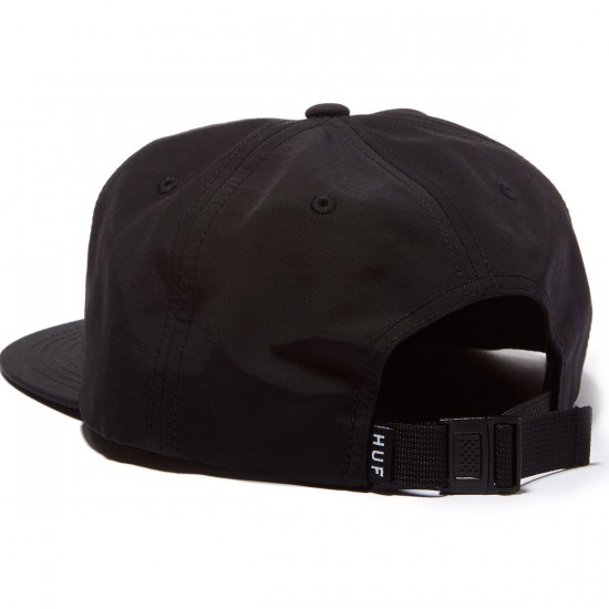 HUF Bar Logo 60/40 Snapback Hat - Black