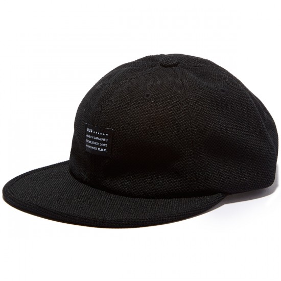 HUF Diamond Knit 6 Panel Hat - Black